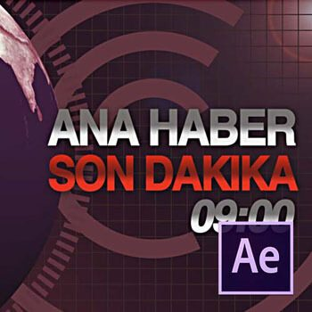 After Effects ile Haber Bülteni Giriş Animasyonu Video Eğitimi