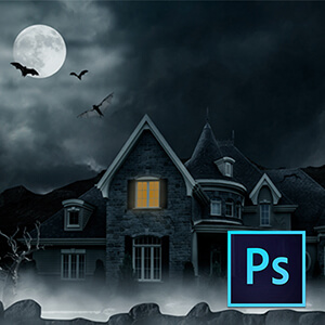 Photoshop ile Perili Ev Manipülasyonu Video Eğitimi