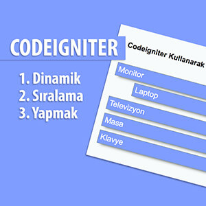 PHP Sortable Plugin ile Dinamik Sıralama Video Eğitimi